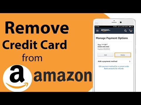 How to remove credit card from Amazon on Android