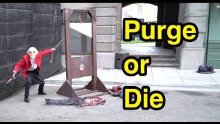 2016 purge or die scare zone halloween horror nights universal studios hollywood