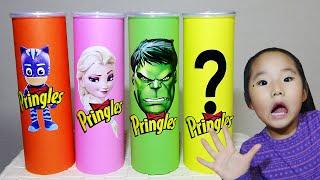 Making Pringles with Elsa and Hulk 프링글스를 먹으면 무엇으로 변할까요?!! 수지의 다양한 프링글스 캣보이 헐크 요술봉 놀이 겨울왕국 히어로