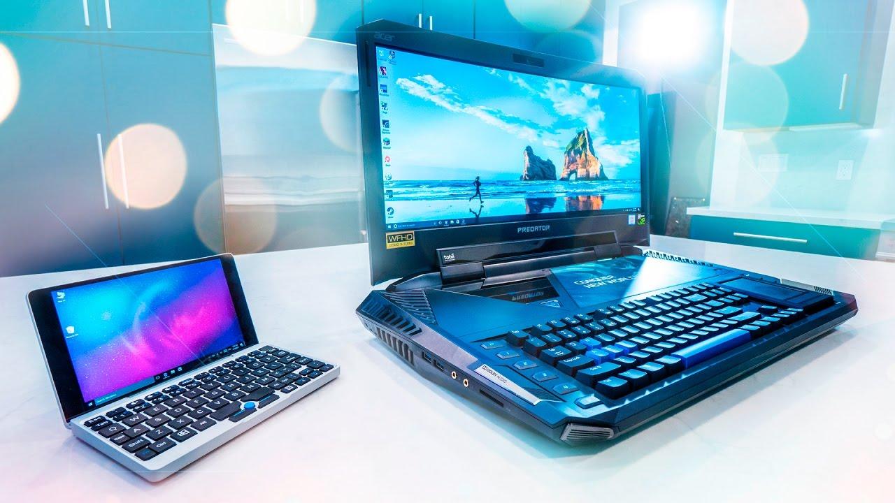 the biggest vs smallest laptop youtube