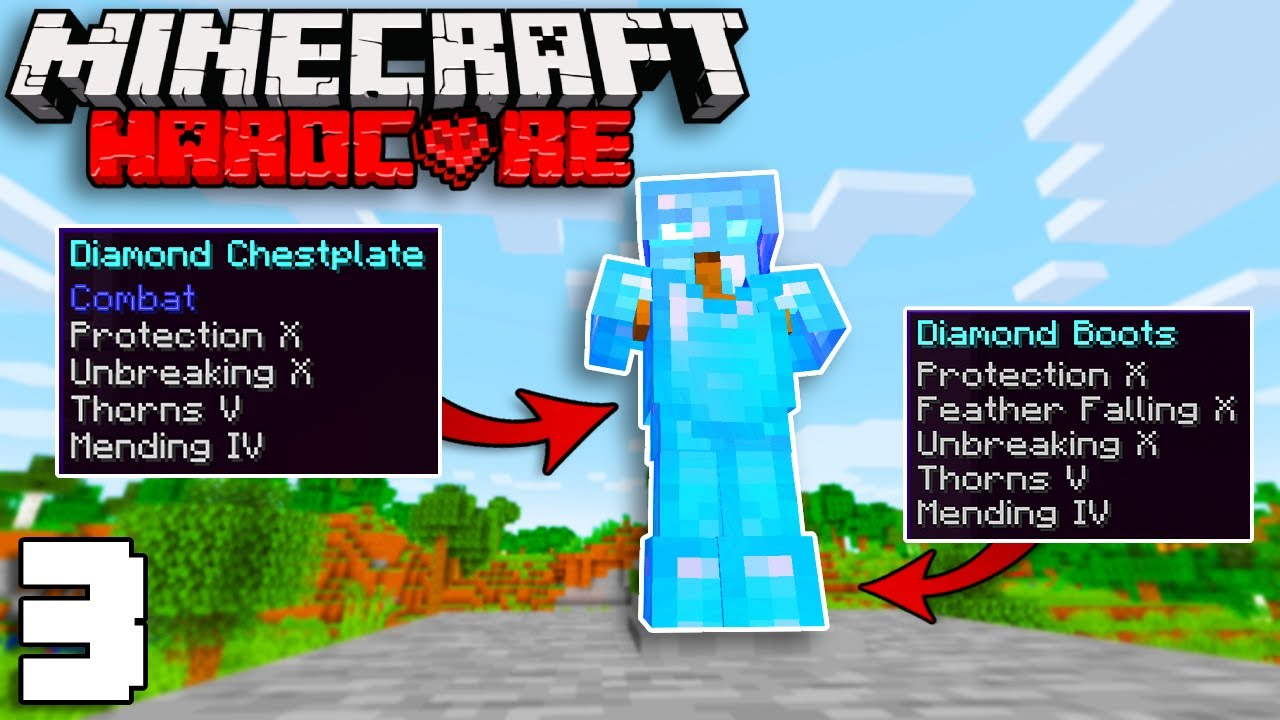 Download The Most OP Armour in HARDCORE Minecraft   Minecraft Hardcore 1.17 Episode 3