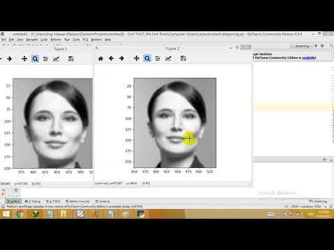 sharpen filter implementation using python - YouTube