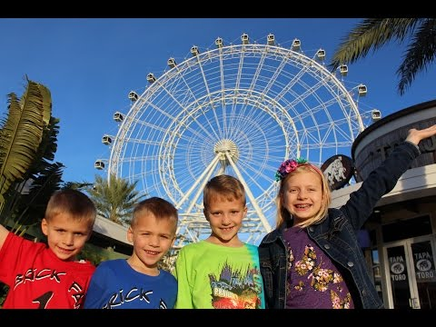 400 Feet IN THE SKY Riding the Orlando Eye Huge Ferris Wheel!!
