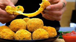 БОМБА Рецепт! БЕЗ Масла! | Быстрая Закуска | Cheese bombs  | Кулинарим с Таней