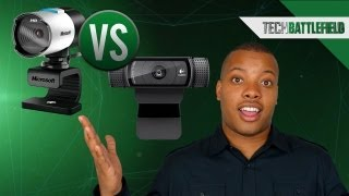 Microsoft Lifecam Studio vs Logitech HD Pro Webcam C920(On today's Soldier's Tech Battlefield, Mark Watson examines the Microsoft Lifecam Studio vs the Logitech HD Pro Webcam C920. Let the webcam battle begin!, 2012-12-31T17:43:21.000Z)