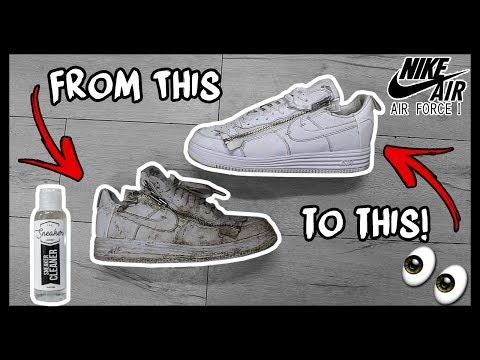 CLEANING FILTHY ACRONYM NIKE AIR FORCE 1's TO LOOK BRAND NEW AGAIN!