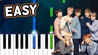 BTS (방탄소년단) IDOL 100% EASY PIANO TUTORIAL