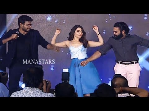 Tamanna's Belly Dance Along With Sundeep Kishan and Navdeep @ Next Enti Movie Pre Release Event