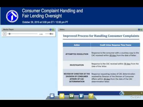Consumer Complaint Handli​ng and ​​Fair Lending Oversight (10/29/2015)