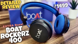 Boat rockerz 400 bluetooth headphones detailed review in hindi | Best budget Headphone | Extra Bass