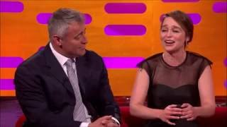 Matt LeBlanc and Emilia Clarke meeting for first time  in THE GRAHAM NORTON SHOW
