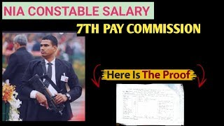 In this video i have given an information about nia constable salary basic pay (basic pay) according to 7th commission hindi, wit...