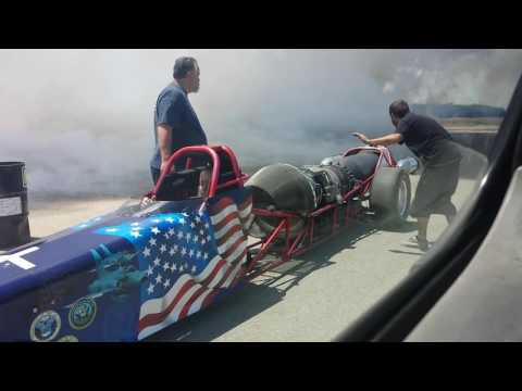 American freedom fighter jet dragster