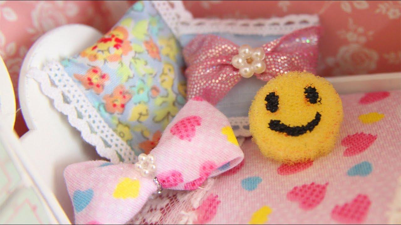 Diy no sew miniature pillows simplekidscrafts youtube - Cojines para bebes ...