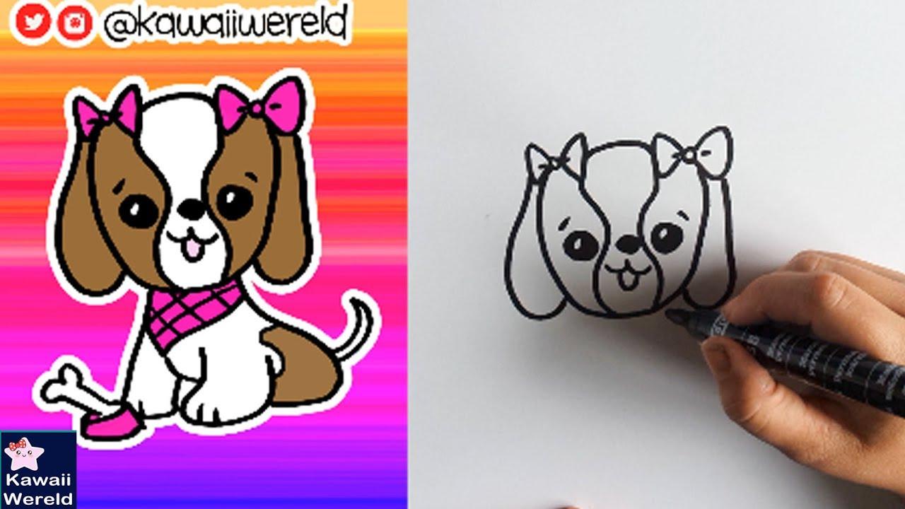 Hoe Teken Je Een Schattig Hondje Leren Tekenen Youtube