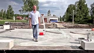 видео строим дом из газобетона
