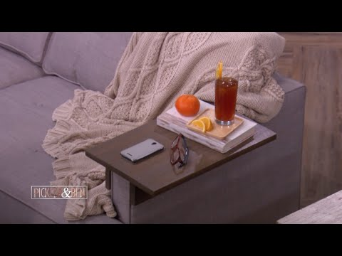 How To Make a Couch Arm Rest Table - Pickler & Ben