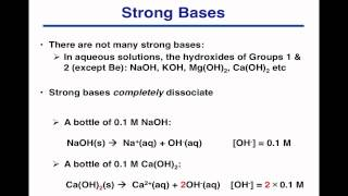 pH of Strong Acids and Bases