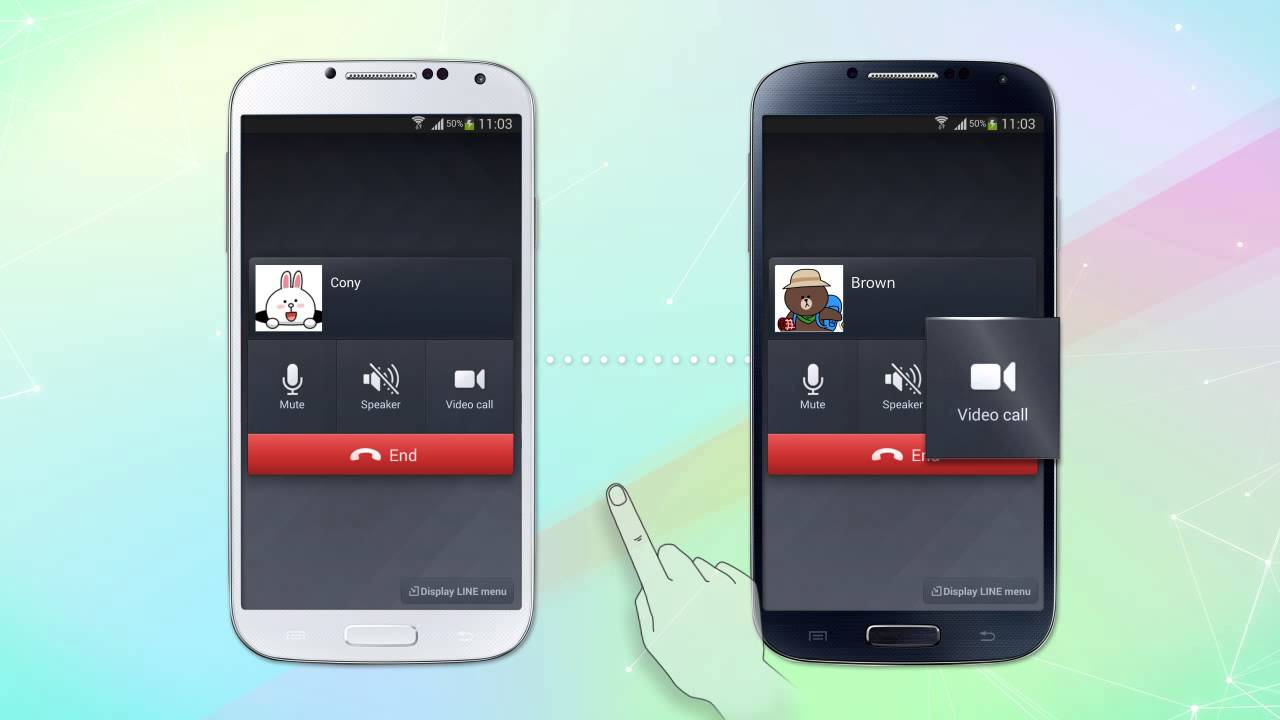 how to use line video call