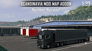 ETS2 1.32 - Northen Norway - NG Scania R500 - ScandinaviaMod Addon for Promods 2.31