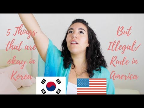 5 Things That are Okay in Korea but Rude/Illegal in America