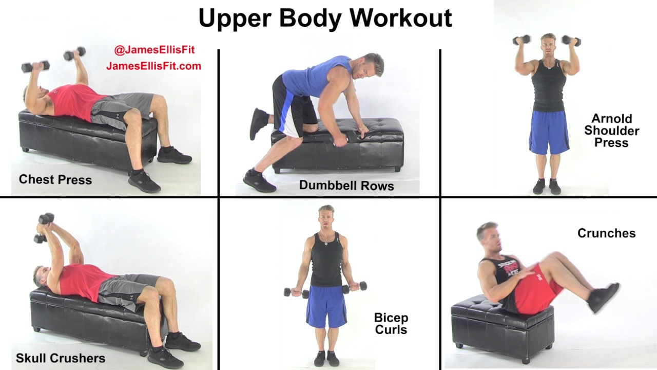 upper body workout with dumbbells youtube