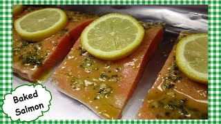 The BEST Oven Baĸed Salmon ~ Easy Healthy Lemon Garlic Salmon Recipe