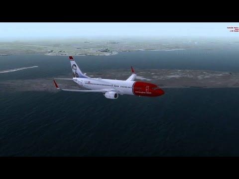 Prepar3D V3.4 B738 Norwegian Air LZIB-EKCH Brastislava(SLOVAKIA) to Copenhagen (DENMARK) Full Flight