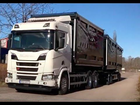Första biogasdrivna flistransporten till Trollhättan