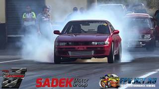 ENDERS JDM INDUSTRIES 2JZ POWERED S13 7.81 @ 171 MPH AT SYDNEY JAMBOREE