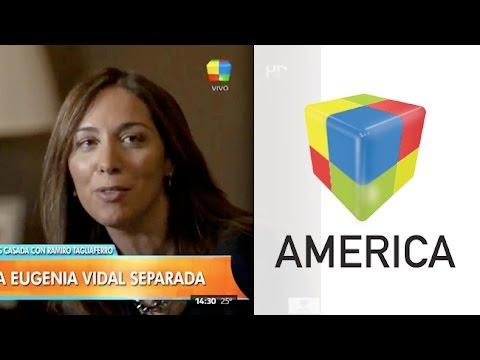 La Gobernadora María Eugenia Vidal se separó de su esposo