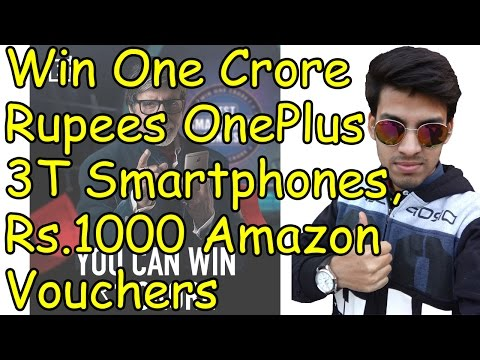 (New Task Today) OnePlus Best Smart Phone Contest-Win OnePlus 3T SmartPhone & Rs.2000 Amazon Voucher