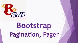 Bootstrap3 tutorial in hindi part-11| Pagination And Pager|How to create Pager example|Robust Coders