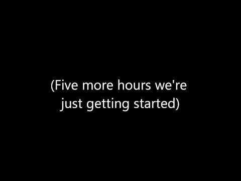 Derro x Chris Brown ~ Five More Hours Lryics