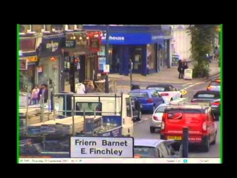 CCTV of Brian Coleman assault on Helen Michael in North Finchley