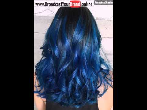 Blue Highlights For Black Hair Youtube