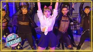 GOLDEN BUZZER   FABULOUS Britney Tribute Audition On Spain's Got Talent!   Top Talent
