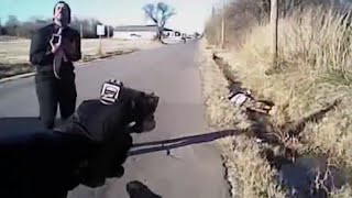 police bodycam video oklahoma cop shooting armed man dead