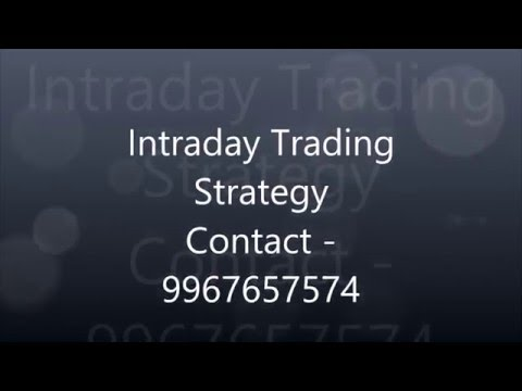 Intraday trading strategy in indian stock market
