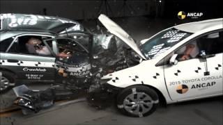 Краш тест Toyota Corolla 1998 и 2015 годов