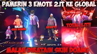 PAMERIN 3EMOTE SULTAN KE GLOBAL TOTAL 6JT!! MALAH DIKATAIN SKIN DOANK?! NGAMUK RATAIN BERMUDA 15KILL