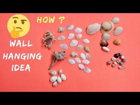 Best Wall Hanging Craft Idea | Seashell Wall Hanging Making at Home | DIY Room Decor