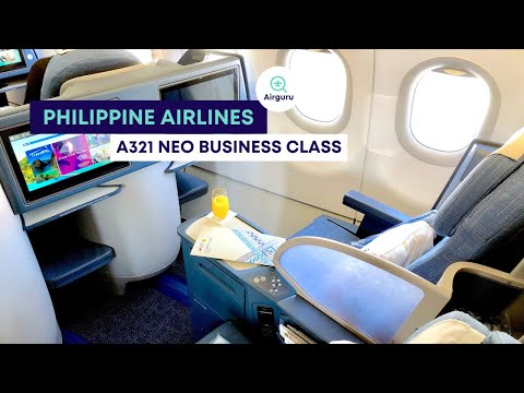 Philippine Airlines new Business Class A321 neo from Manila MNL to Bangkok BKK - Review