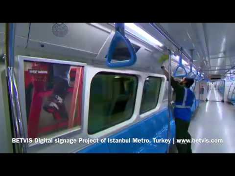 BETVIS Digital Signage-Project - Istanbul Metro, Turkey