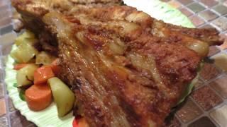 Сочная свинина под имбирно- медовым маринадом