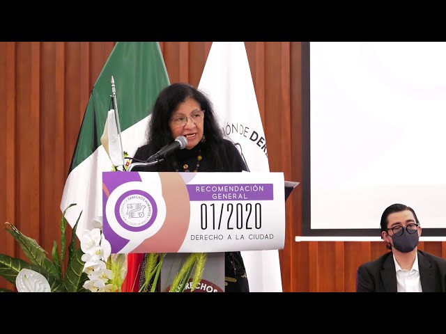 Discurso de Nashieli Ramírez, Presidenta de CDHCM, en Presentación de Recomendación General 01/2020