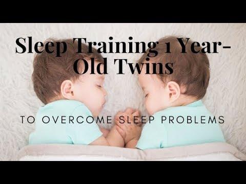 Sleep training one year-old twins to overcome sleeping problems