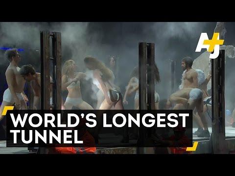 Swiss Celebrate World's Longest Tunnel