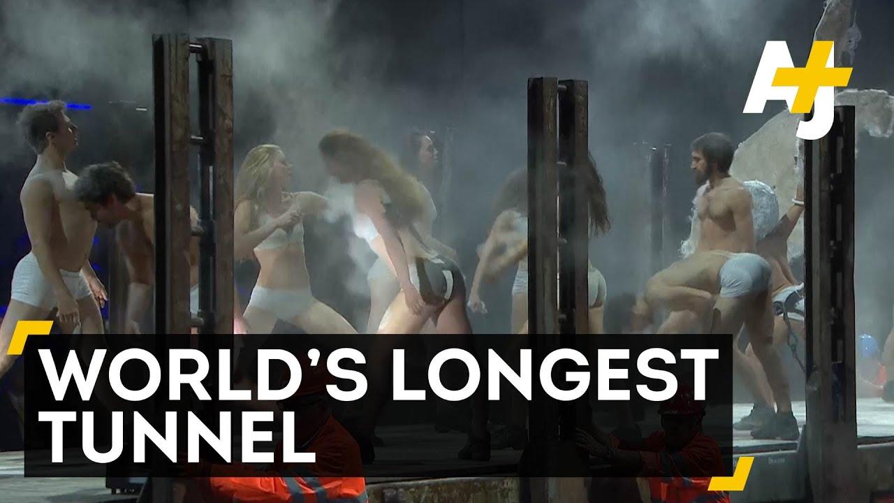 swiss celebrate worlds longest tunnel doovi