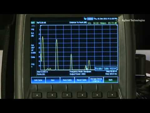 Agilent FieldFox Cable and Antenna Analyzer Training Video